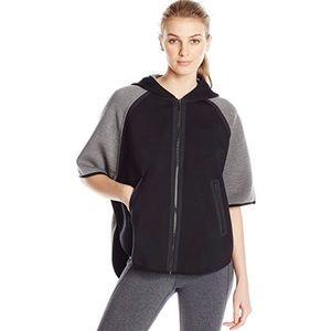 Elie Tahari cape jacket black grey small